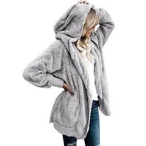 Jackets & Blazers - 2019 teddy bear fluffy hooded autumn winter coat
